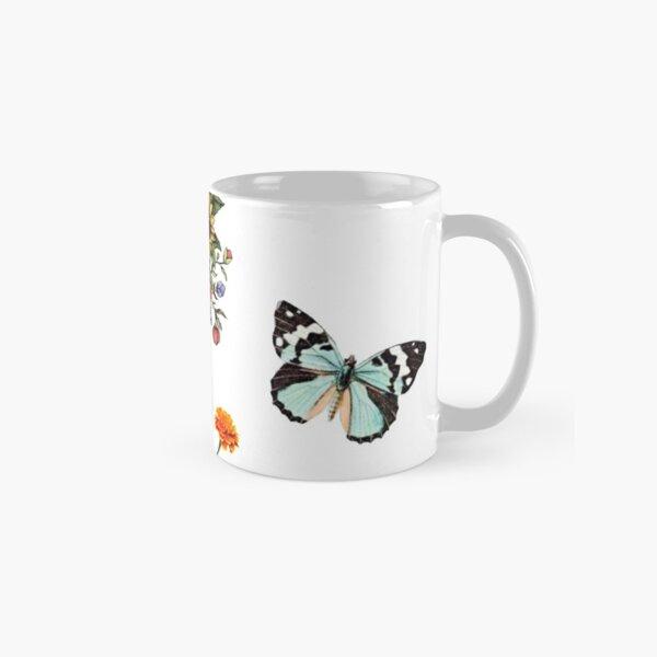 flowers and butterflies sticker pack  Classic Mug