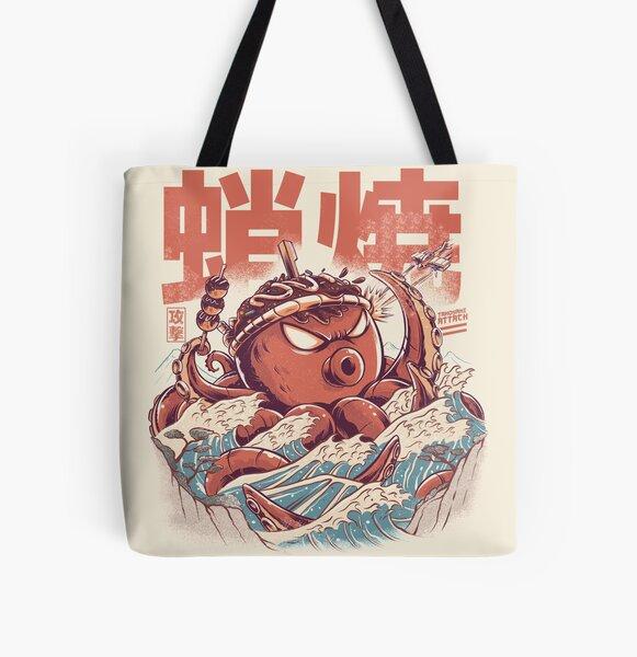 Takoyaki Attack All Over Print Tote Bag