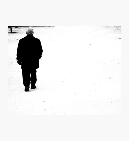 Walking into the future.. Photographic Print