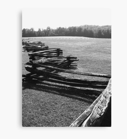 Split Rail Fence and Cade's Cove, Tennessee Canvas Print