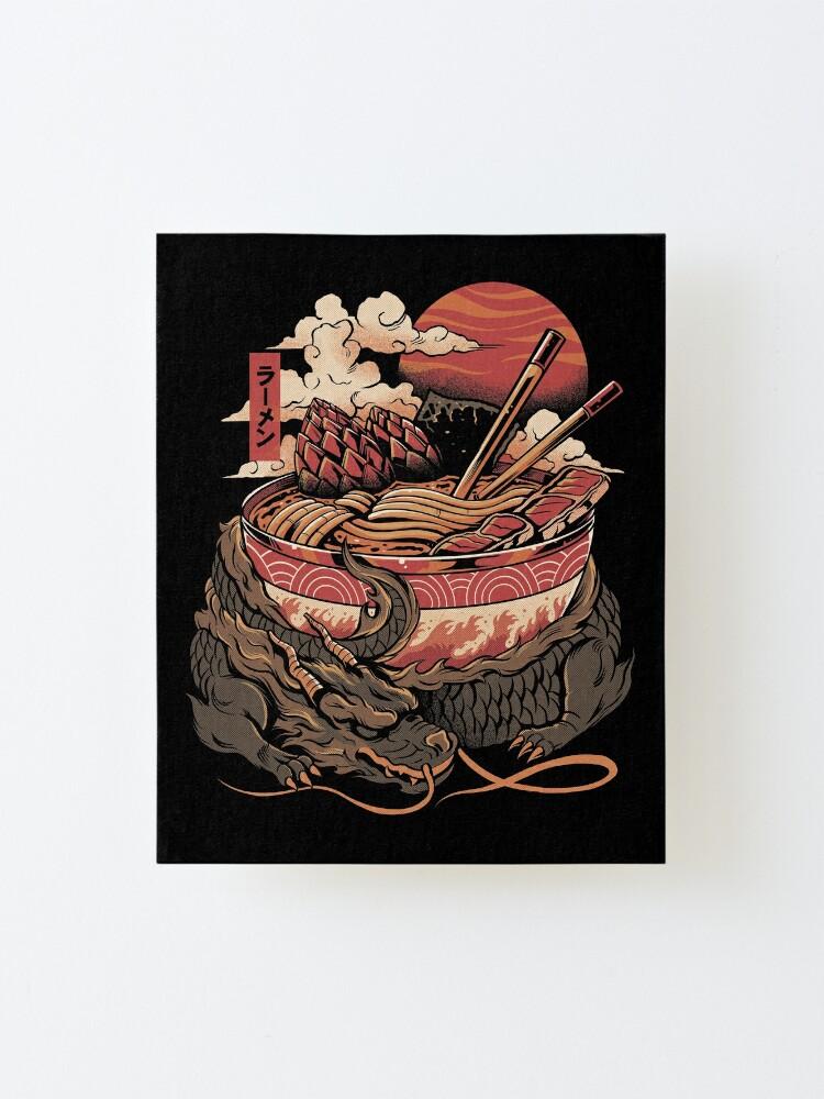 Alternate view of Dragon's Ramen Mounted Print