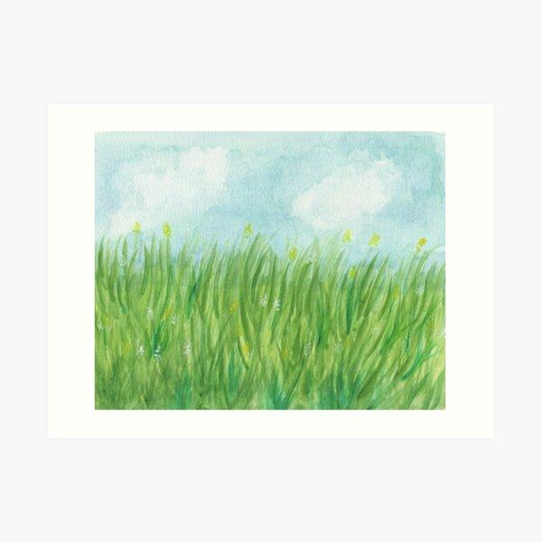 Grasslands Ghosts Art Print