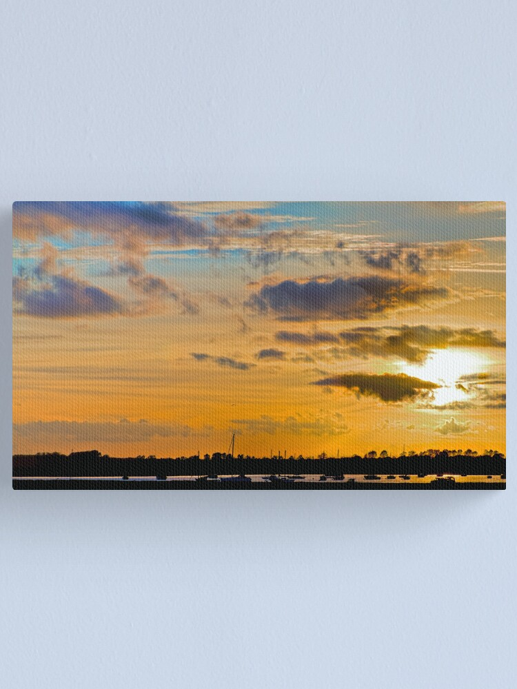 Alternate view of Sunset over River Alde Canvas Print