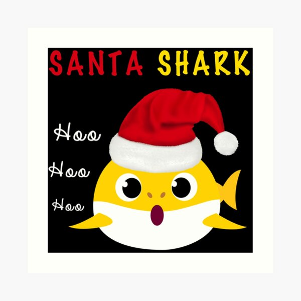 Santa Shark Hoo Hoo Hoo Hoo Hoo Infant Skull Hats Baby Beanie Cap