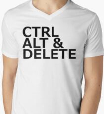 CTRL ALT DELETE Mens V-Neck T-Shirt