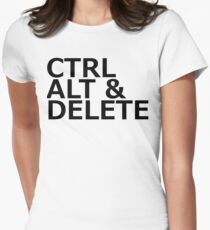 CTRL ALT DELETE Women's Fitted T-Shirt