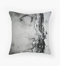 In Profile Print Throw Pillow