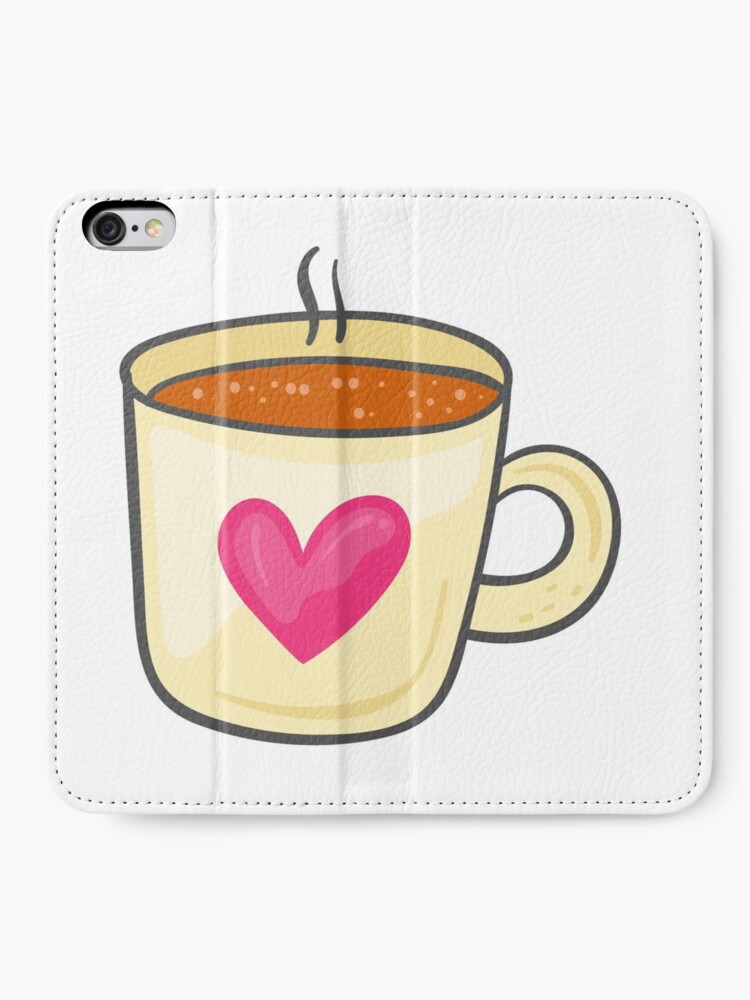 coffee cup cute illustration tumblr aesthetic icon iphone wallet by vanessavolk redbubble redbubble