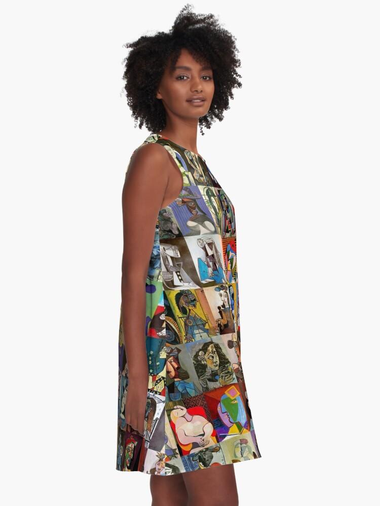 Alternate view of Picasso Faces A-Line Dress