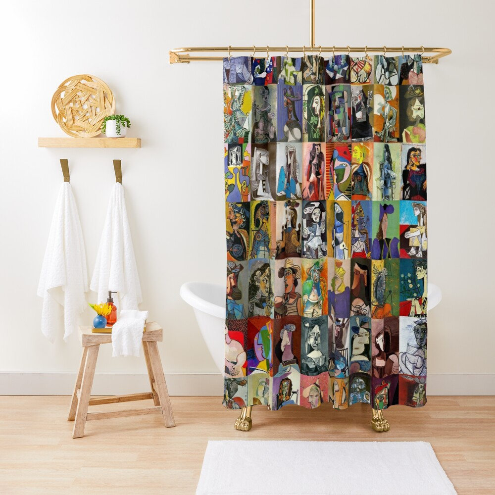 Picasso Faces Shower Curtain