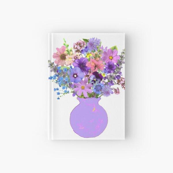 Lilac vase lavender bouquet Hardcover Journal