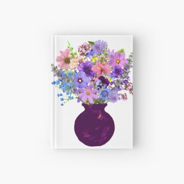 Mauve vase lavender bouquet Hardcover Journal