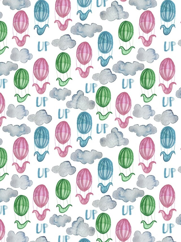 UP UP UP Hot Air Balloon Pattern by shoshannahscrib
