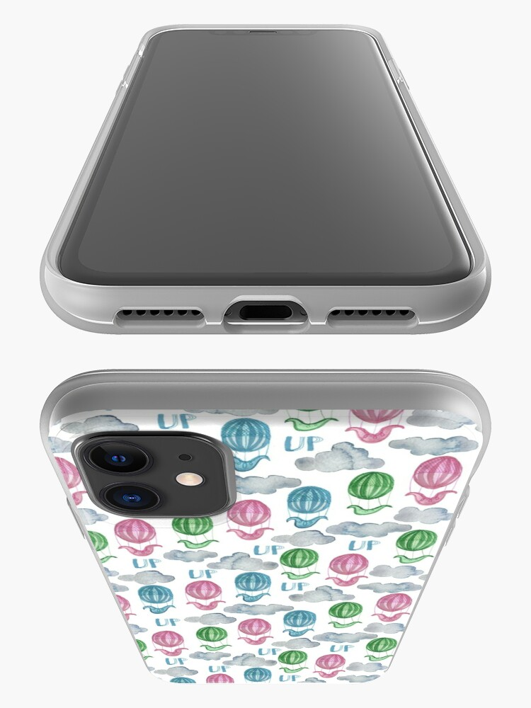 Alternate view of UP UP UP Hot Air Balloon Pattern iPhone Case & Cover