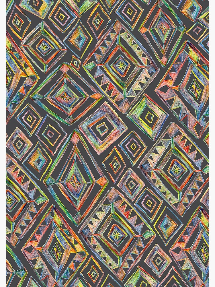 Rainbow Prism Colorful Diamond Pattern by shoshannahscrib