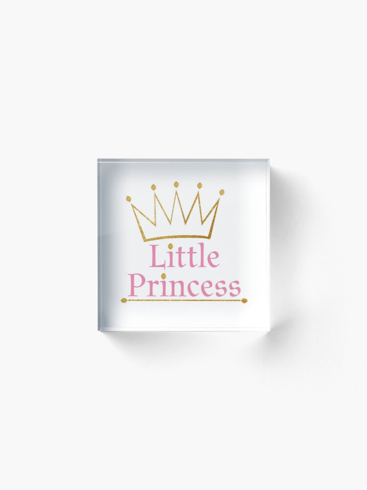 Alternate view of Little princess Gold crown Acrylic Block