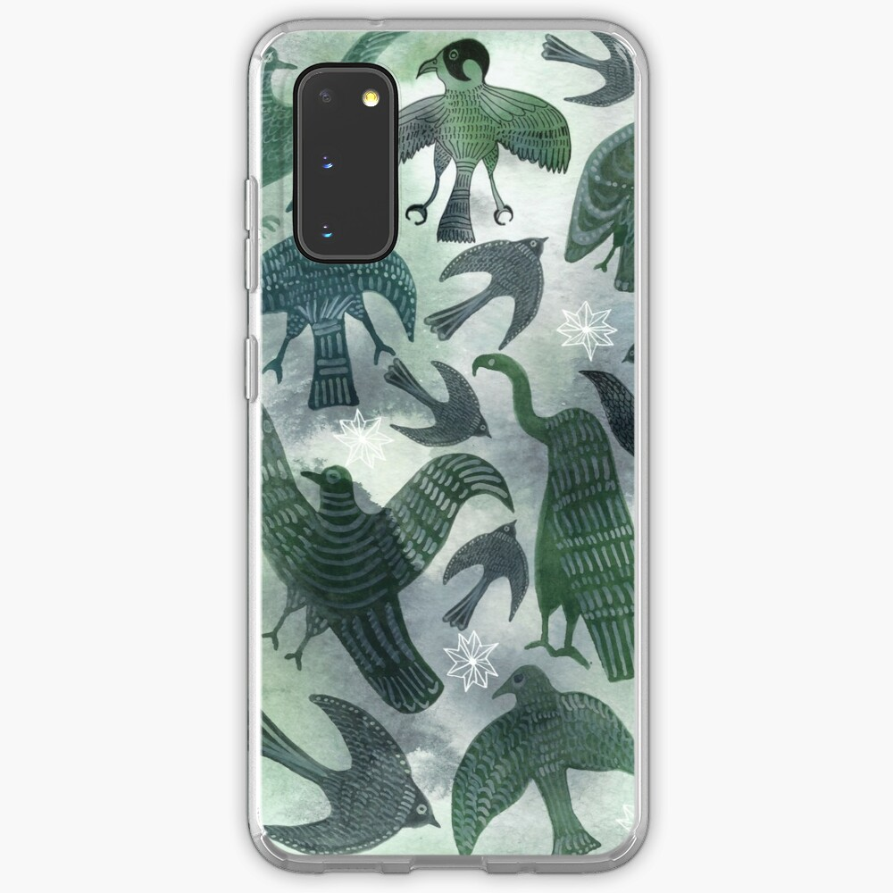 Ancient Green Birds Case & Skin for Samsung Galaxy