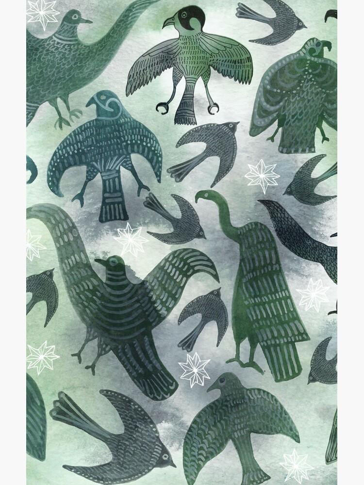 Ancient Green Birds by shoshannahscrib