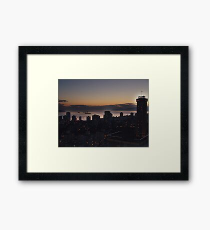 Vancouver Evening Framed Print