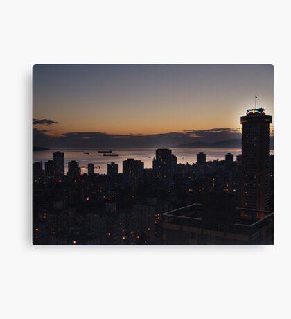 Vancouver Evening Canvas Print