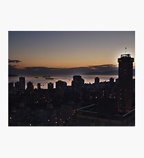 Vancouver Evening Photographic Print