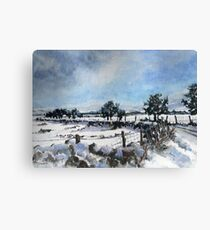 Easter snow in Skipton Canvas Print