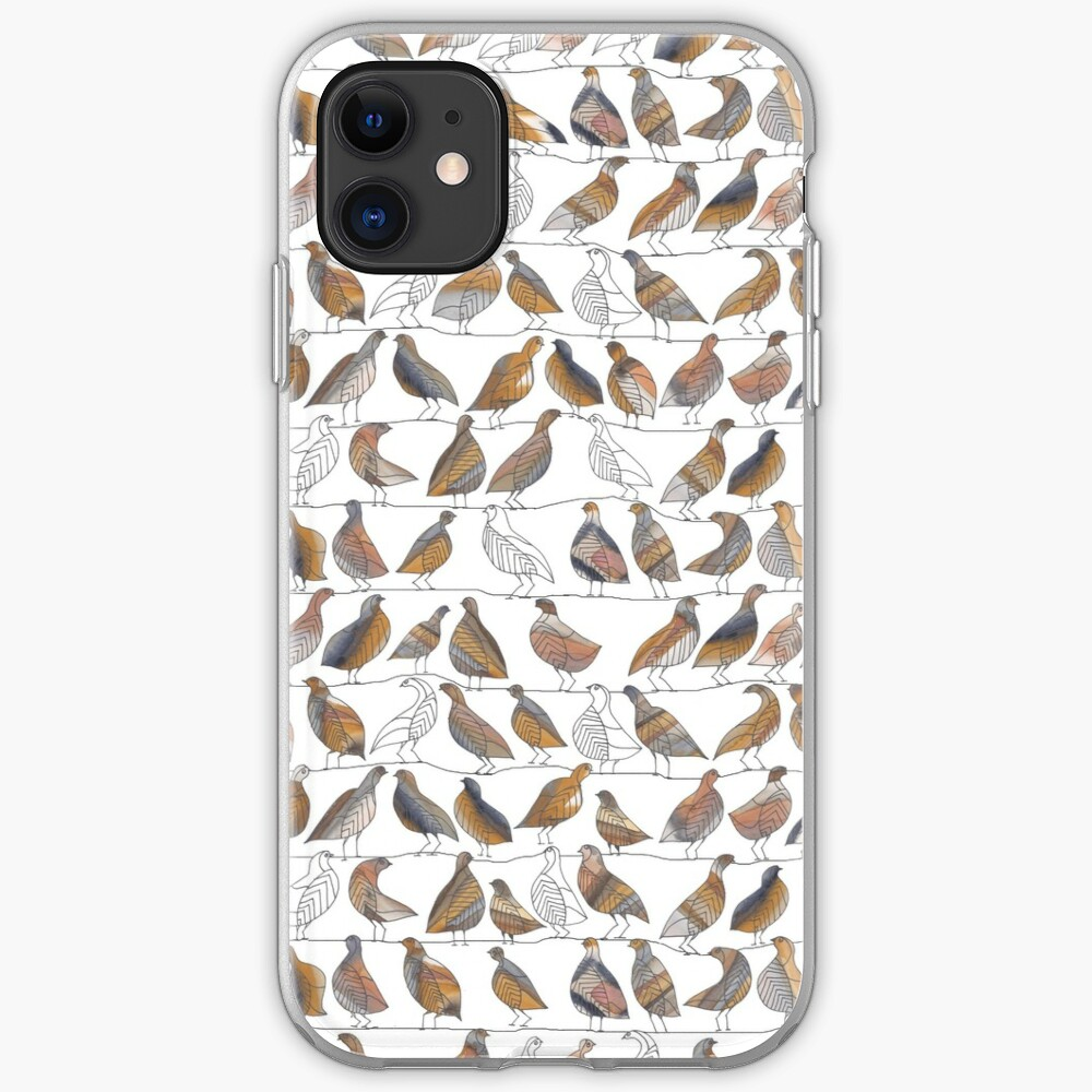 Doves on Wires Watercolor Pattern iPhone Case & Cover