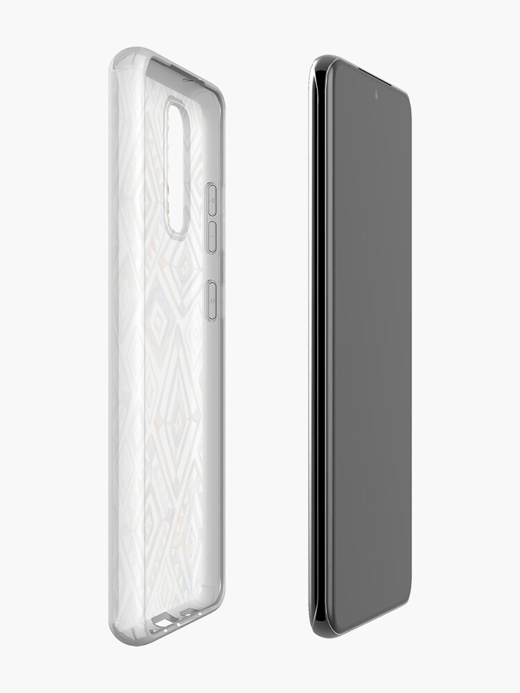 Alternate view of Rainbow Prism on White Case & Skin for Samsung Galaxy