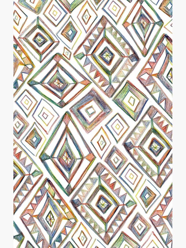 Rainbow Prism on White by shoshannahscrib