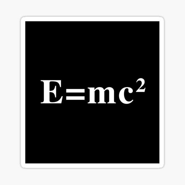 'E=mc2' (Black) Sticker