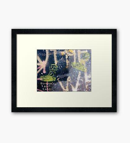 Blimpin' Ain't Easy (wide) Framed Print