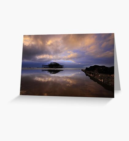The Tides Out At West Pier! Greeting Card