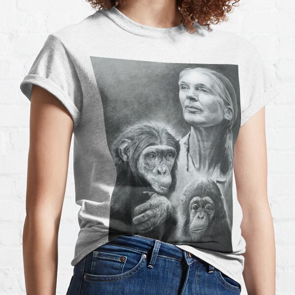 WE ARE FAMILY  JANE GOODALL Classic T-Shirt
