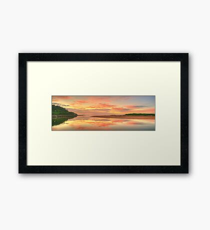 Pastels At Dawn - Narrabeen Lakes Entrance, Sydney - The HDR Experience Framed Print