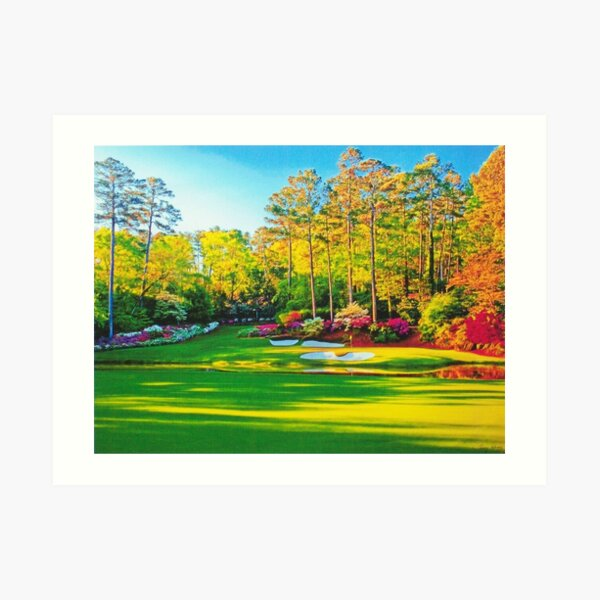 Hole 13 at Augusta National Golf Course Art Print