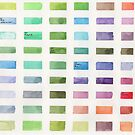 Color Mixing Swatches by clarablack-ink