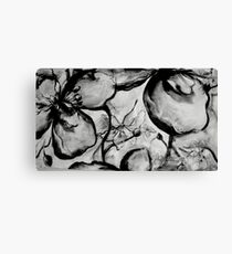 Flowers- Black and White Canvas Print