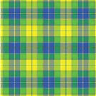 YELLOW PLAID Vintage Art by Bruce ALMIGHTY Baker