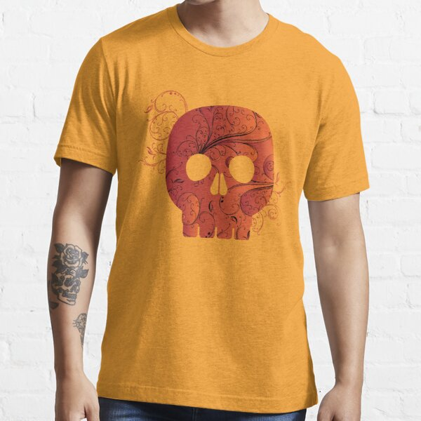 red floral skull Essential T-Shirt