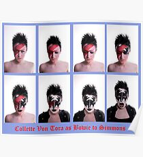Collette Von Tora Morphs From Bowie To Simmons Poster