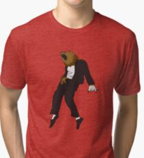 Michael Jackson Bear Tri-blend T-Shirt