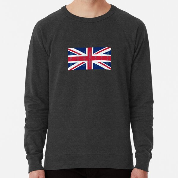 Great Britain Flag Shield Colors British National Pride Born Hoodie Sweatshirt
