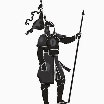 Mongolian Warrior (Black) by satorenalin