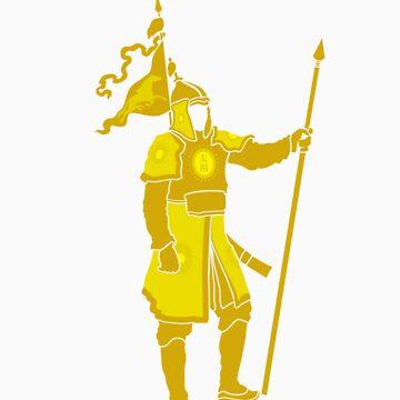 Mongolian Warrior (Yellow) by satorenalin