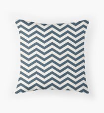 The Midnight & Cream Chevron Throw Pillow