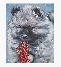 Keeshond Christmas Fine Art Painting Photographic Print