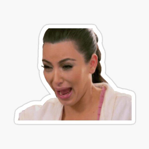 Kim Kardashian Crying funny art kim k Sticker