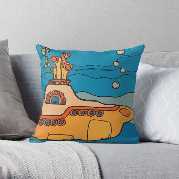 My Yellow Submarine  Throw Pillow