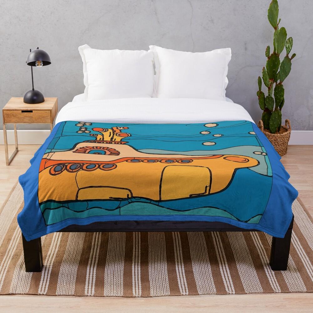 My Yellow Submarine Throw Blanket