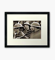 faces of war  Framed Print